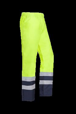 Sioen Broeken Norvill fluo geel-marineblauw