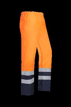 Sioen Regenbroeken Norvill  fluo oranje-donkerblauw